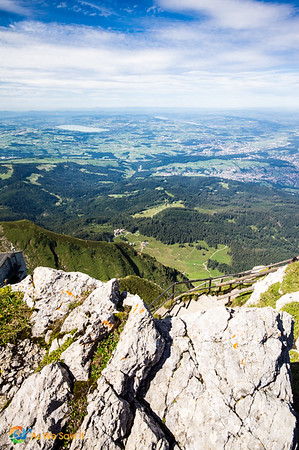 View from the top of Mount Pilatus.