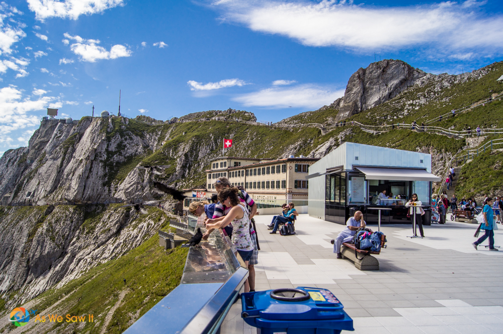 Visitor center on top of Mount Pilatus.