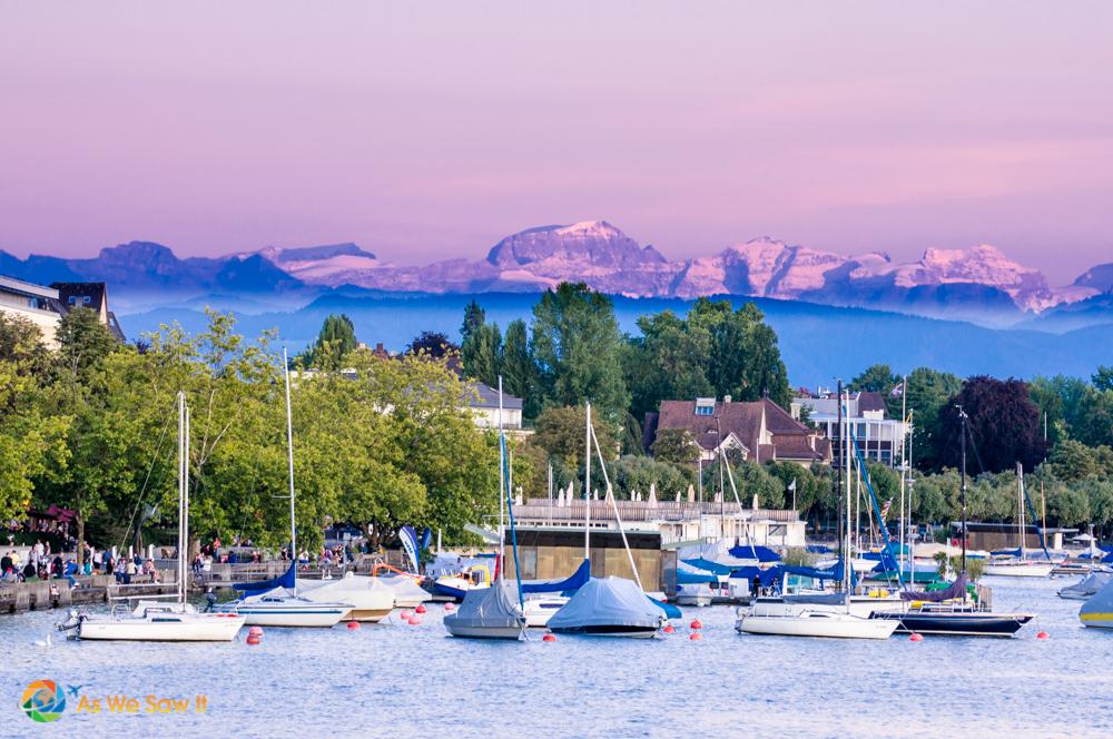 Marina on Lake Zurich.