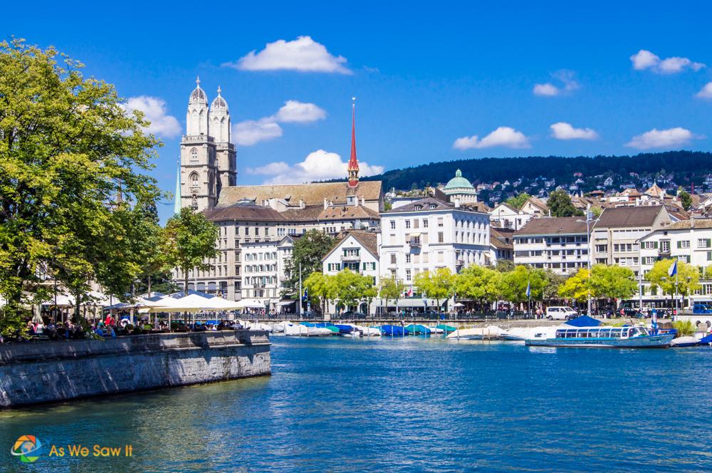 Zurich as seen from a bridge