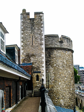 Walking the walls of the Tower of London.