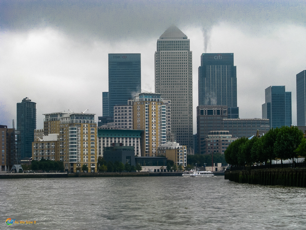 Stormy day on the Thames
