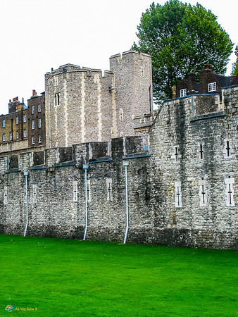 Walls of the Tower of London.