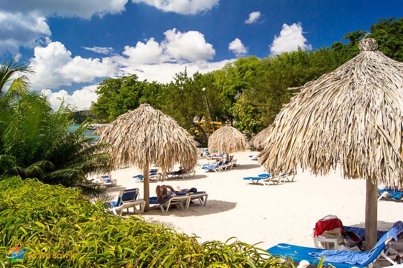 Hilton hotel beach in Curacao