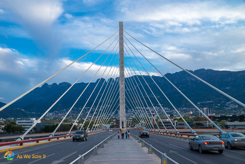 Puente de la Unidad or sometimes called Puente Atirantado bridge.