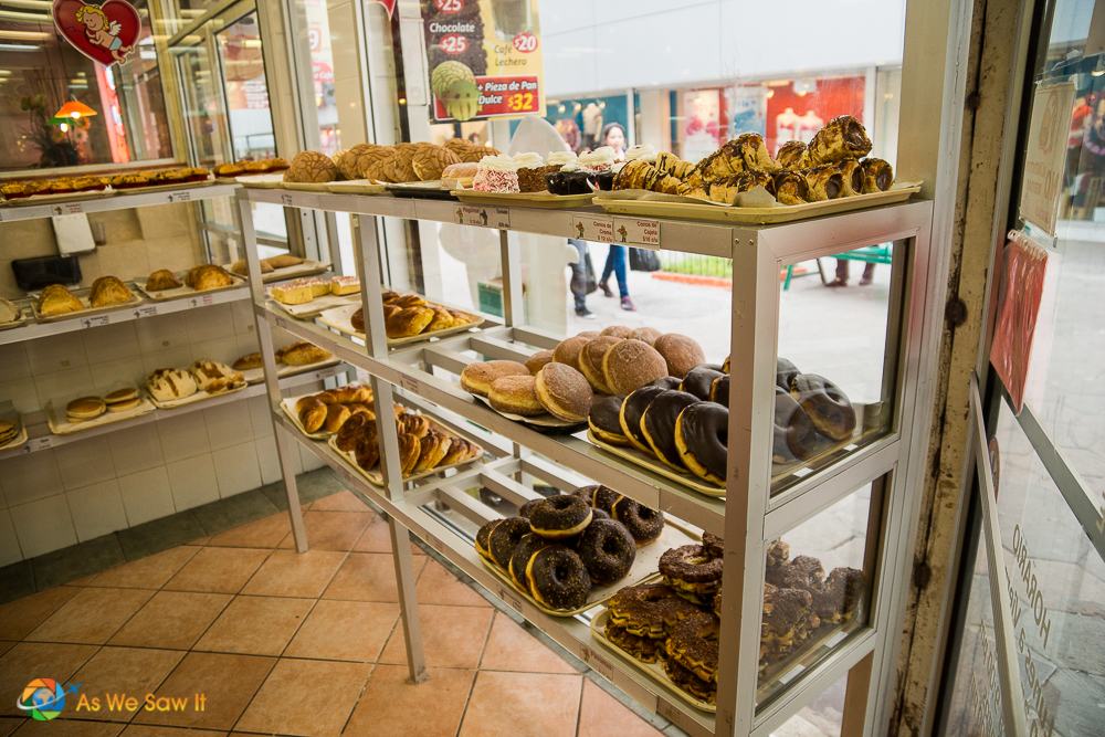 Treats at a local Mexican bakery.