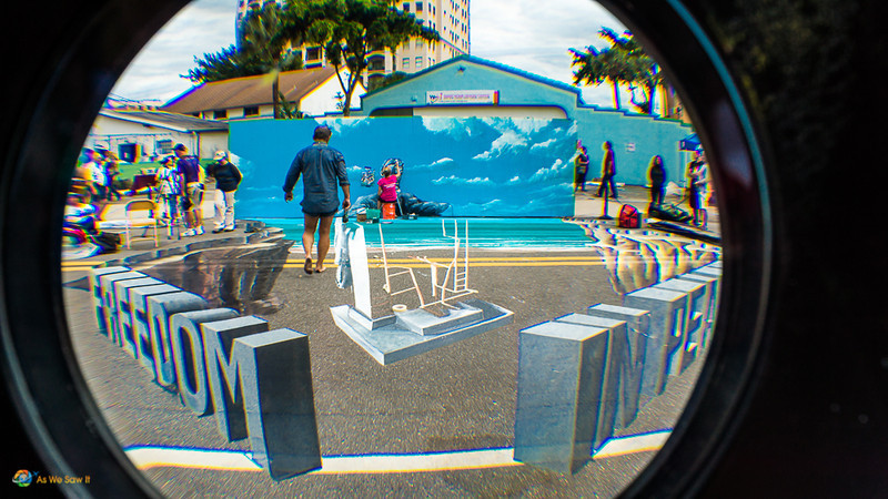 sarasota chalk festival 3D artwork, taken through 3D lens