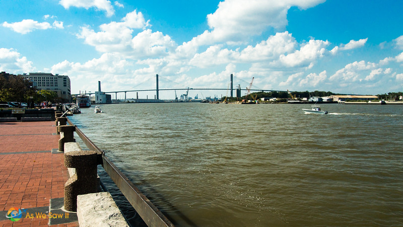 Bay Street and a nice walk run along the Savannah River