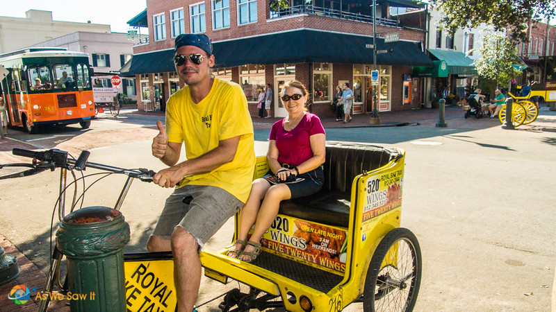 Bicyle taxi in Savannah