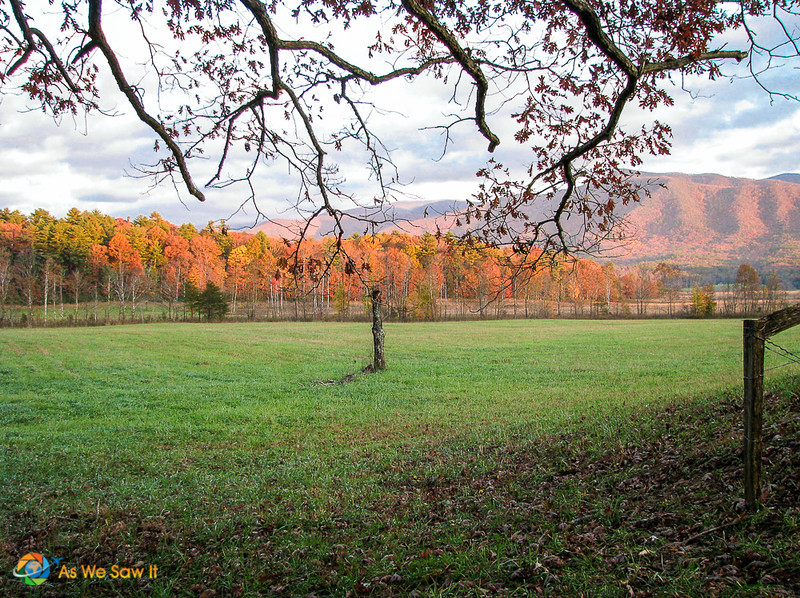 Cades Cove, Tennessee in full fall colors