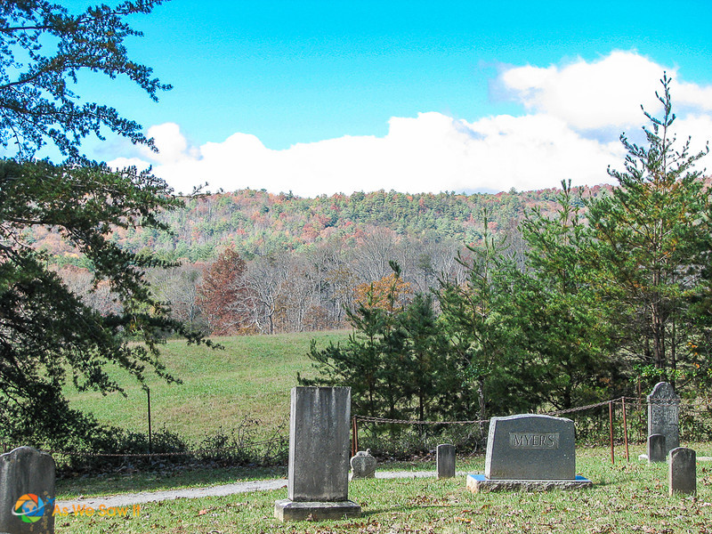 Graveyard at Cades Cove Primitive Baptist Church