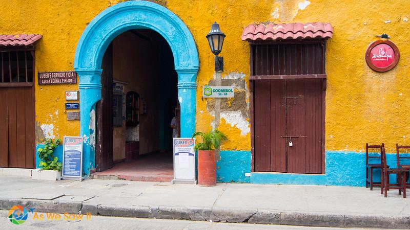 Vibrant architecture in Cartagena Colombia