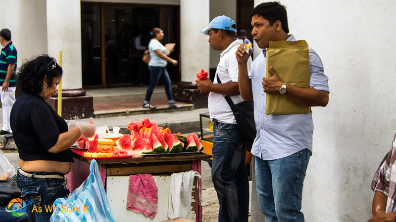 Fruit for sale on a Cartagena street
