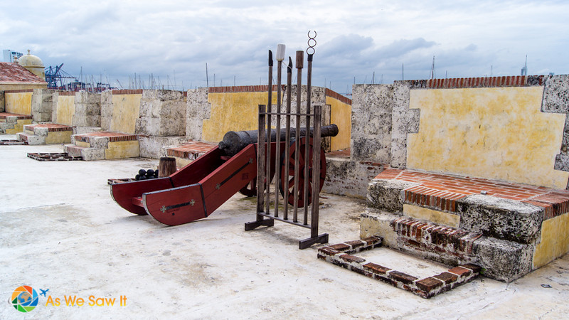 Cannons still stand ready to defend Cartagena