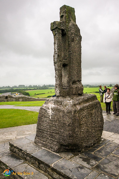 A stone cross marks the traditional site at the Rock of Cashel where Patrick baptised the king. of Munster