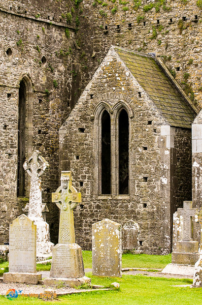 Gravestones at the Rock of Cashel