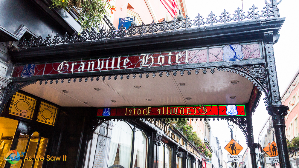 The Granville Hotel has links to both Ireland's and America's past, which is why the American flag flies above the entryway.