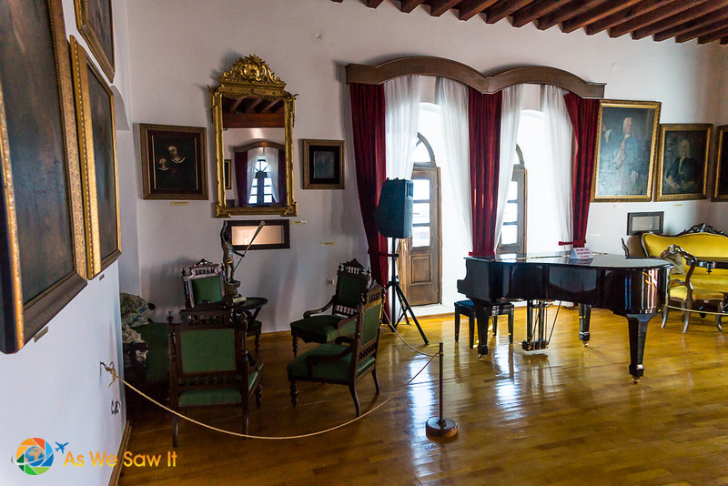 music room in Kotor museum