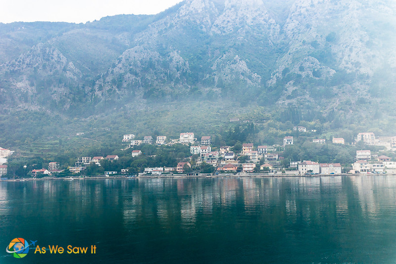 A small town across the Bay from Kotor, taken from cruise ship. In our opinion, photography is one of the best things to do in kotor montenegró