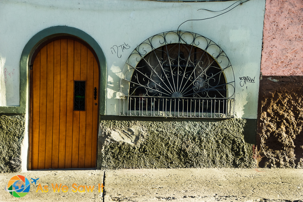 Despite being a world heritage site Cuenca shows signs of being lived-in. Graffiti, for one.