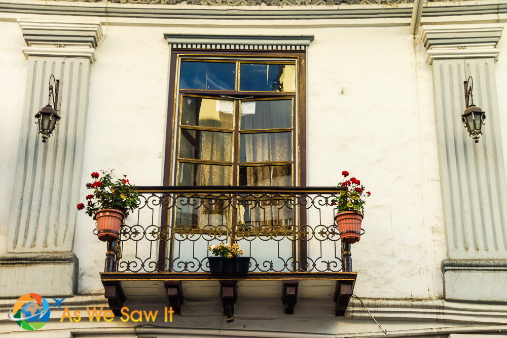 window of an apartment in Cuenca, Ecuador