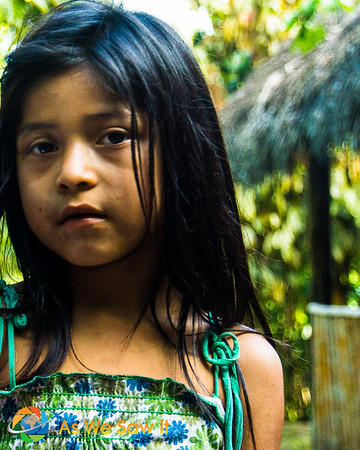 Portrait of a Kichwa girl