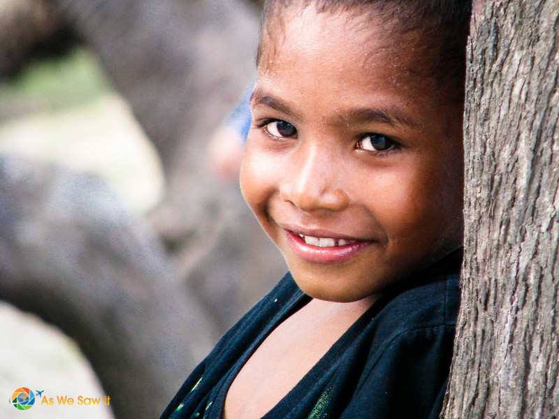 Close up of child we saw while driving in Timor