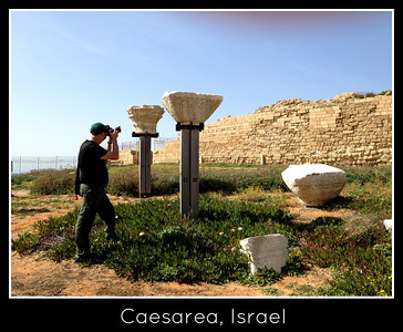 Dan photographing Caesarea